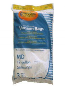 3 MD Modern Day 12 gallon 721H Allergen Style Central Vacuum System Bag Hyperflow, Silent Master ...
