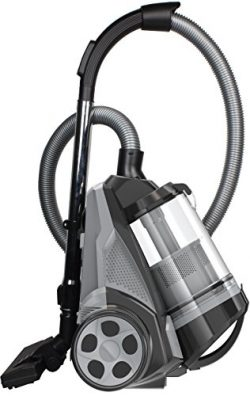 Ovente Cyclonic Canister Vacuum – Bagless – HEPA Filter – Includes Pet/Sofa Brush, Bendable Mult ...