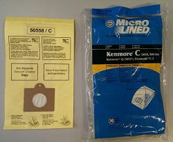 20 Kenmore Style C & Style Q 5055 50557 50558 Micro Lined Canister Vacuum Bags. Also Fits Pa ...