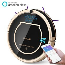 XShuai T370 Robot Vacuum Cleaner with Siri & Alexa Voice Control Wi-Fi Connected Self-Chargi ...