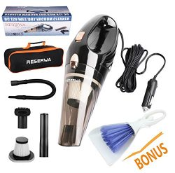 Reserwa Car Vacuum 12V 106W Wet&Dry Car Vacuum Cleaner Portable Car Handheld Vacuum 16.4FT(5 ...