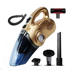 LEAJIA Car Vacuum Cleaner With Tire Inflator,Tire Pressure Gauge ,Floodlight, 12V Multi-function ...