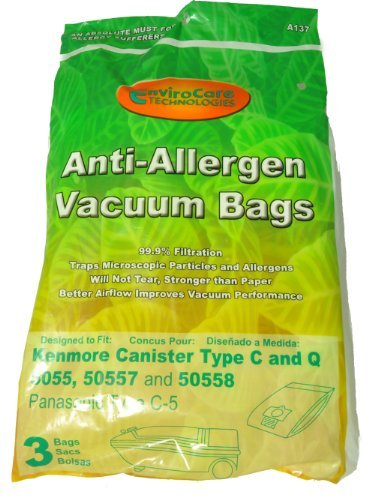 Envirocare Kenmore Canister Vacuum Cleaner Bags For 5055