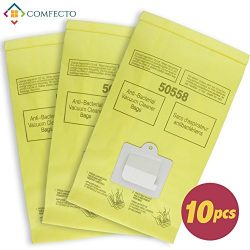 Set of 10 Anti-bacterial Hypoallergenic Premium Vacuum Bags for Kenmore Canister Type C, Panason ...