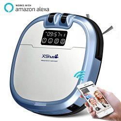 XShuai C3 Smart Robot Vacuum Cleaner Siri & Alexa Voice Control Camera Video Chat Schedule C ...