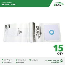 15 Nutone CV-391 Vacuum Bags Generic Part By ZVac. Replaces Part Numbers 68703-6, 68703 Fits: PP ...