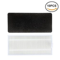 Replacement Filter Kit for Eufy RoboVac 11,Eufy RoboVac 11c Robotic Vacuum Cleaner ( 10 Pcs of F ...
