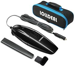 [Updated]Car Vacuum, LOLLDEAL 12V 75W Black Car Vacuum Cleaner Super Mini Portable hand-held Aut ...