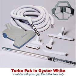 Central Vacuum Turbo Brush Cleaning Set Featuring a Vacuflo TurboCat Power Nozzle, 30-foot Elect ...