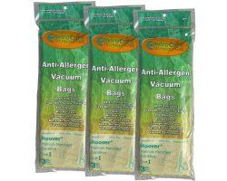 9 Hoover Type I #AH10005 Platinum Canister Vacuum Cleaner Allergen HEPA Bag A891, 985059002, AH1 ...