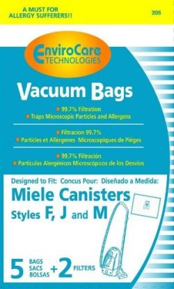 EnviroCare Replacement Bags for Miele F J M Microfiltration Vacuum Bags – 10 Bags + 4 Filters