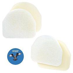 HQRP 2-pack Foam & Felt Filter Kit for Shark Rocket NV480 series NV472, NV480, NV480 26, NV4 ...
