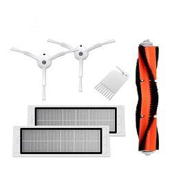 Original accessories For XIAOMI MI Robot Vacuum Side Brush 2pcs HEPA Filter 2pcs Main Brush 1pcs ...