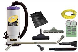 ProTeam Commercial Backpack Vacuum Cleaner, Super QuarterVac Vacuum Backpack with HEPA Media Fil ...