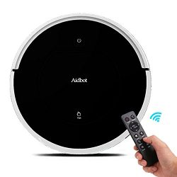 Aidbot Black Smart Robotic Vacuum Cleaner Auto Vacuum Robot Strong Suction Sweep Cleaning Floor  ...