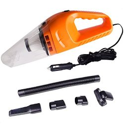 COSSCCI Car Vacuum Cleaner High Power, DC 12V ,120W Portable Lightweight Wet & Dry Auto Hand ...