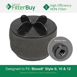 Bissell Style 9/10/12 Washable Pleated Filter with Outer Foam Filter, Part #'s 32064, 2031 ...