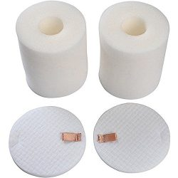 2 Pack Foam & Felt Filter Set Fits Shark Rotator Pro NV500, NV500CO, NV501, NV502, NV503, NV ...