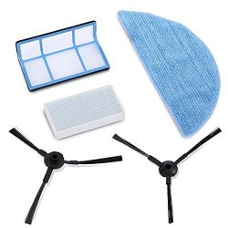 PureClean – (2) Rotating Side Brushes (1) HEPA Filter (1) Dry Mop Cloth  – Robot Vac ...