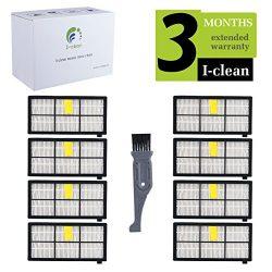 I-clean 8pcs Filter for iRobot Roomba 980 960 860 880 805, iRobot Roomba Replenishment Kits Acce ...