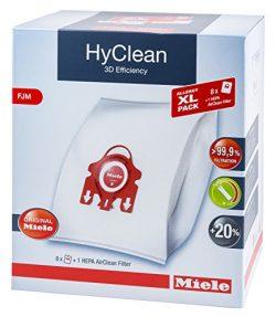 Miele XL Pack – 8x Miele Hyclean 3D FJM Vacuum Bags +1 Miele Hepa Filter SF-HA 50