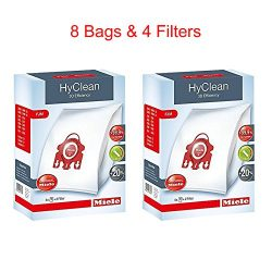 Miele HyClean 3D Efficiency Dust Bag, Type FJM, 8 Bags & 4 Filters