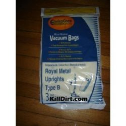 3 Royal Upright Type B Vacuum Cleaner Allergy Bags, Top Full Vacuum Cleaners, RO-2-066247-001, R ...