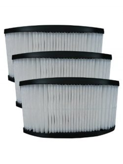(3) 40130050 Hoover Fold Away Turbo Power 3100 HEPA Pleated filter, Upright, Bageless, Widepath  ...