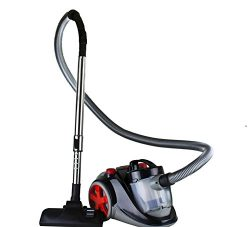 Ovente Bagless Canister Cyclonic Vacuum with HEPA Filter, Comes with Telescopic Wand, Combinatio ...