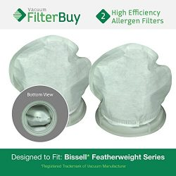 2 – FilterBuy Bissell Featherweight Compatible Filters, Part # 32019. Designed by FilterBu ...