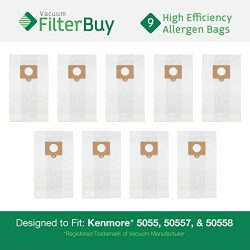9 – FilterBuy Kenmore Type C 5055, 50557 and 50558 Replacement Allergen Vacuum Cleaner Bag ...