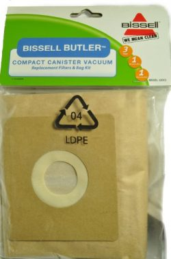 Bissell Butler Compact Canister Vacuum Cleaner Bags, Fits: Model 3580, Bissell Item Number 32023 ...