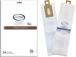 Oreck XL and CC Micro Filtration Bag, 24 Bags Treated with Ultra-Fresh for Models CCPK80H, CCPK8 ...
