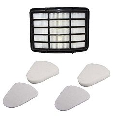 VacuumPal Foam & Hepa Replacement Filter Kit for Shark Navigator Lift-away NV350, NV351, NV3 ...