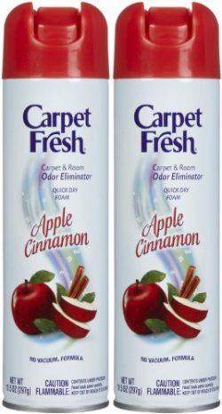 Carpet Fresh No-Vacuum Carpet Cleaner Aerosol, Apple Cinnamon, 10.5-2 pk