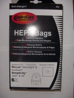 Riccar Moonlight & Sunburst Canister HEPA Vacuum Cleaner Bags