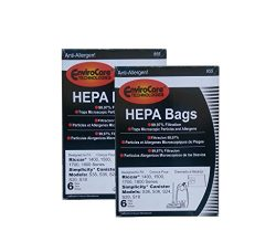12 Riccar Simplicty HEPA Canister Replacement Vacuum Bags RHH-6 C19-6 SHH-6 S8-6 C19-6
