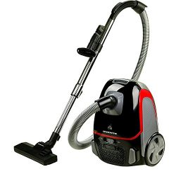Ovente Canister Vacuum with Tri-Level Filtration: Dust Bag, Outlet HEPA Filter, and Inlet Filter ...