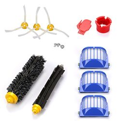 YABELLE Accessory Part Kit for iRobot Roomba 500 /600,620,630,650,660,Includ Side Brush, Bristle ...