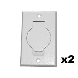 ANTOBLE 2 Pcs Standard Central Vacuum Inlet Valve Plate White for Beam Central Vac – White ...