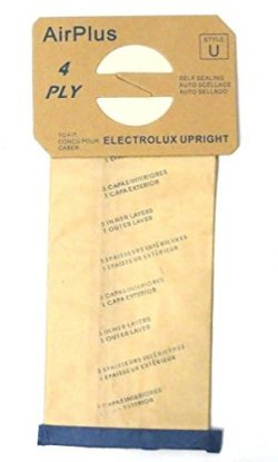 Electrolux & Proteam Type U Filter Upright Vacuum Paper Bags 12 Pk Part # 138