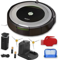 iRobot Roomba 690 Wi-Fi Connected Robotic Vacuum Cleaner + 1 Dual Mode Virtual Wall Barrier (Wit ...