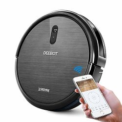 ECOVACS DEEBOT N79 Robotic Vacuum Cleaner, Strong Suction, for Low-pile Carpet, Hard floor, Wi-F ...