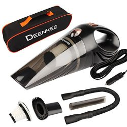 Car Vacuum,Deenkee Portable Handheld Auto Vacuum for Car Wet Dry Use,DC 12V,4.5 KPA Stronger Suc ...