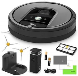 iRobot Roomba 960 Vacuum Cleaning Robot + Dual Mode Virtual Wall Barrier (With Batteries) + Extr ...
