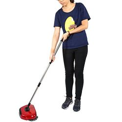 Zerone Hand Push Sweeper,3 in 1 Household Cleaning by 360 Degree Rotating Red Hand Push Automati ...