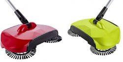 KORCCI Sweeper Broom, 1 Pc Random Color Red or Green, As Seen on TV. Lightweight Powerless Sweep ...