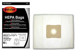EnviroCare Replacement HEPA Vacuum bags for Riccar Moonlight and Sunburst. Simplicity Jack and J ...