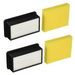 2 Pack Bissell Style 1008 Filter Pack for CleanView Upright Vacuums 9595A, 1819, 1822, 1825, 183 ...