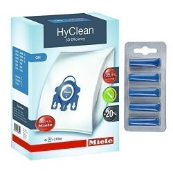 Miele GN Hyclean 3D Efficiency Dust Bags for Vacuum Cleaners + Free 4YourHome Ocean Breeze Air F ...